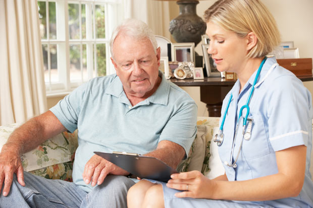 Nurse Practitioner with Elderly Patient