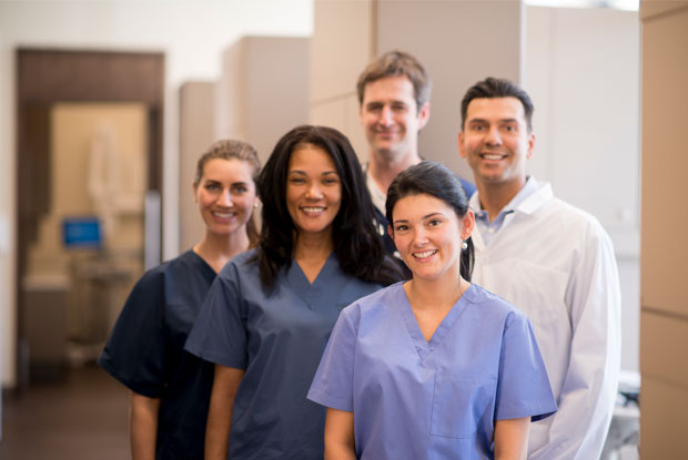 medical assistant and medical staff
